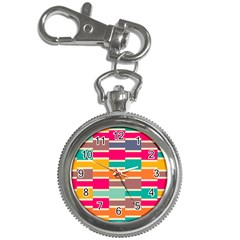 Connected Colorful Rectangles			key Chain Watch by LalyLauraFLM