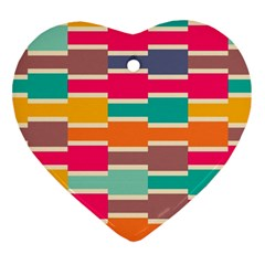 Connected Colorful Rectangles			ornament (heart) by LalyLauraFLM