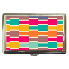Connected Colorful Rectangles			cigarette Money Case by LalyLauraFLM