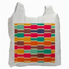 Connected Colorful Rectangles			recycle Bag (one Side) by LalyLauraFLM