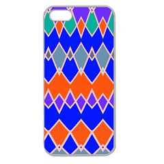Rhombus Chains			apple Seamless Iphone 5 Case (clear) by LalyLauraFLM
