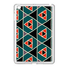 Triangles In Retro Colors Pattern			apple Ipad Mini Case (white) by LalyLauraFLM