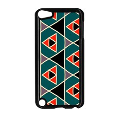 Triangles In Retro Colors Pattern			apple Ipod Touch 5 Case (black) by LalyLauraFLM