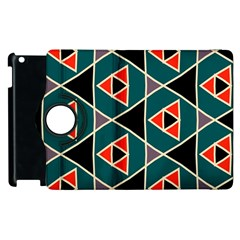 Triangles In Retro Colors Pattern			apple Ipad 3/4 Flip 360 Case by LalyLauraFLM
