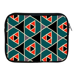 Triangles In Retro Colors Pattern			apple Ipad 2/3/4 Zipper Case by LalyLauraFLM