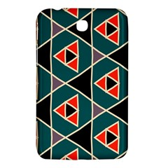 Triangles In Retro Colors Pattern			samsung Galaxy Tab 3 (7 ) P3200 Hardshell Case by LalyLauraFLM