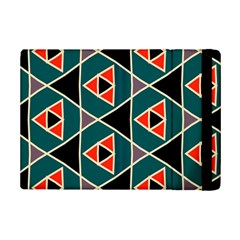 Triangles In Retro Colors Pattern			apple Ipad Mini 2 Flip Case by LalyLauraFLM