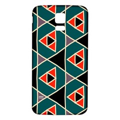 Triangles In Retro Colors Pattern			samsung Galaxy S5 Back Case (white) by LalyLauraFLM