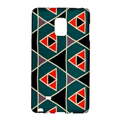 Triangles In Retro Colors Pattern			samsung Galaxy Note Edge Hardshell Case