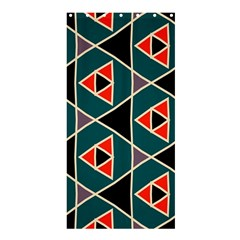 Triangles In Retro Colors Pattern	shower Curtain 36  X 72  by LalyLauraFLM
