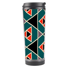 Triangles In Retro Colors Pattern Travel Tumbler by LalyLauraFLM
