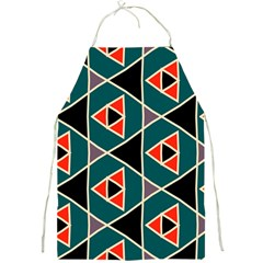 Triangles In Retro Colors Pattern			full Print Apron by LalyLauraFLM