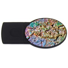 Abstract Background Wall 1 Usb Flash Drive Oval (2 Gb)  by Costasonlineshop