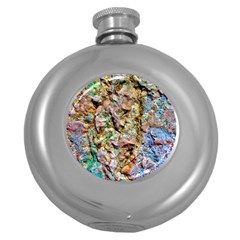 Abstract Background Wallpaper 1 Round Hip Flask (5 Oz) by Costasonlineshop