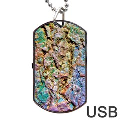 Abstract Background Wallpaper 1 Dog Tag Usb Flash (two Sides)  by Costasonlineshop