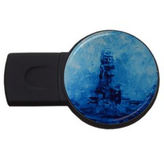 Lost At Sea Usb Flash Drive Round (4 Gb)  by timelessartoncanvas
