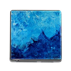 Waves Memory Card Reader (square) by timelessartoncanvas