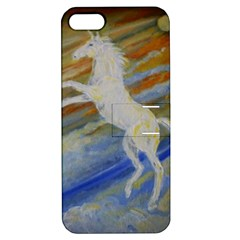 Unicorn In The Sky  Apple Iphone 5 Hardshell Case With Stand by JDDesigns
