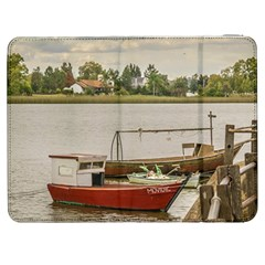 Santa Lucia River In Montevideo Uruguay Samsung Galaxy Tab 7  P1000 Flip Case by dflcprints