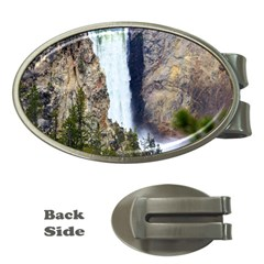 Yellowstone Waterfall Money Clips (oval)  by trendistuff