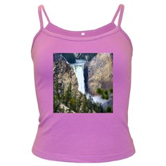 Yellowstone Waterfall Dark Spaghetti Tanks by trendistuff