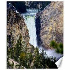 Yellowstone Waterfall Canvas 8  X 10  by trendistuff