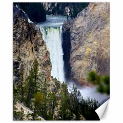 Yellowstone Waterfall Canvas 16  X 20   by trendistuff