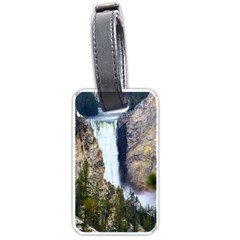 Yellowstone Waterfall Luggage Tags (one Side)  by trendistuff