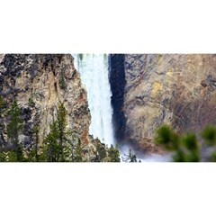 Yellowstone Waterfall You Are Invited 3d Greeting Card (8x4)  by trendistuff