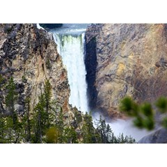 Yellowstone Waterfall Birthday Cake 3d Greeting Card (7x5)  by trendistuff