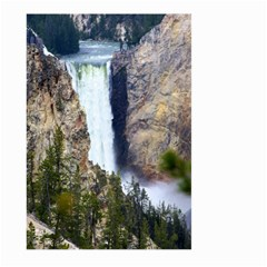 Yellowstone Waterfall Large Garden Flag (two Sides)