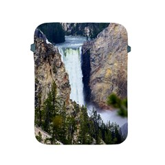 Yellowstone Waterfall Apple Ipad 2/3/4 Protective Soft Cases by trendistuff