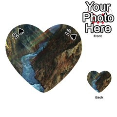 Yellowstone Lower Falls Playing Cards 54 (heart)  by trendistuff