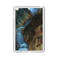 Yellowstone Lower Falls Ipad Mini 2 Enamel Coated Cases by trendistuff