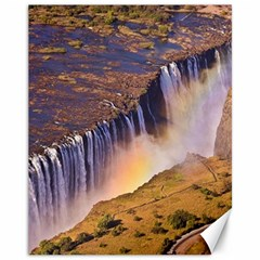 Waterfall Africa Zambia Canvas 11  X 14   by trendistuff