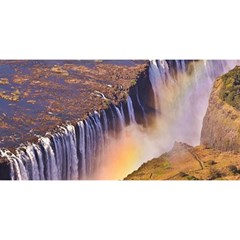 Waterfall Africa Zambia You Are Invited 3d Greeting Card (8x4)  by trendistuff