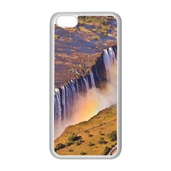 Waterfall Africa Zambia Apple Iphone 5c Seamless Case (white) by trendistuff