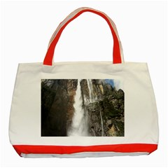 Salto Del Angel Classic Tote Bag (red)  by trendistuff