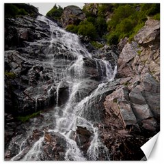 Mountain Waterfall Canvas 12  X 12   by trendistuff