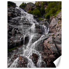 Mountain Waterfall Canvas 11  X 14   by trendistuff