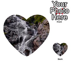 Mountain Waterfall Multi Purpose Cards (heart)  by trendistuff