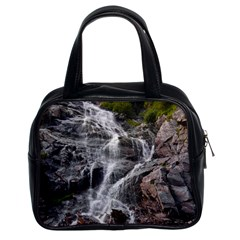 Mountain Waterfall Classic Handbags (2 Sides) by trendistuff