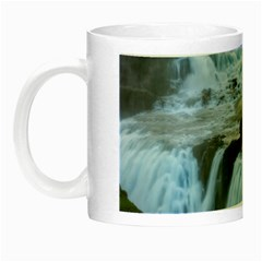 Gullfoss Waterfalls 2 Night Luminous Mugs by trendistuff