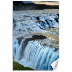 Gullfoss Waterfalls 2 Canvas 24  X 36  by trendistuff