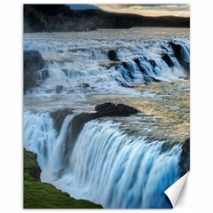 Gullfoss Waterfalls 2 Canvas 11  X 14   by trendistuff