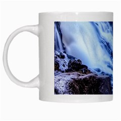 Gullfoss Waterfalls 1 White Mugs by trendistuff