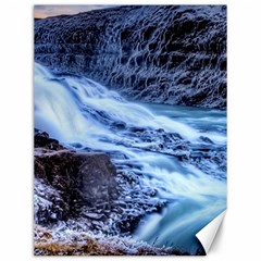 Gullfoss Waterfalls 1 Canvas 12  X 16   by trendistuff