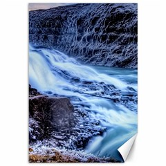 Gullfoss Waterfalls 1 Canvas 12  X 18   by trendistuff
