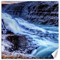 Gullfoss Waterfalls 1 Canvas 16  X 16   by trendistuff