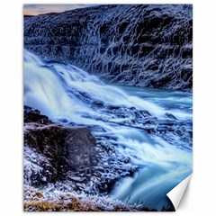 Gullfoss Waterfalls 1 Canvas 11  X 14   by trendistuff
